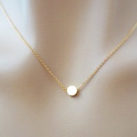 Tiny, Dot, Gold filled, Sterling silver, Chain, Necklace