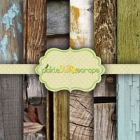 Woodshop Volume 2 - 12 Digital Scrapbook Papers - 8.5x11inch - Printable Backgrounds - Wood Textured - INSTANT DOWNLOAD