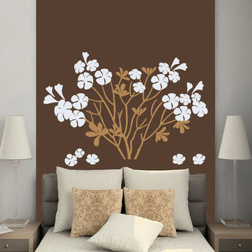 Wall Decals Trees Flowers Blossom Bloom Tree Vinyl Decal Sticker Home Decor Room Bedroom Nursery Living Room  Murals ML50