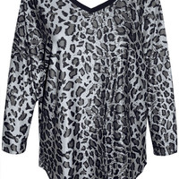 Thelma Snow Leopard Top