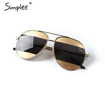 Simplee Oval female anti-reflective sunglasses women Cool lunette steampunk sun glasses Vintage ladies sunglasses 2017 summer