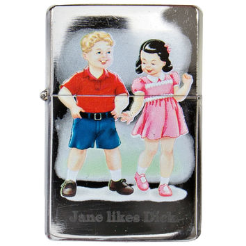 Childhood - Jane Likes Dick Refillable Lighter
