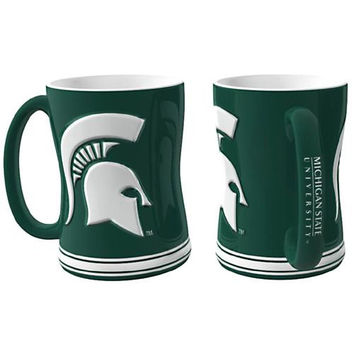 Michigan State Spartans NCAA Coffee Mug - 15oz Sculpted (Single Mug)