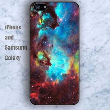 Nebula colorful air iPhone 5/5S case Ipod Silicone plastic Phone cover Waterproof