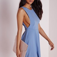 LOW BACK SKATER DRESS POWDER BLUE
