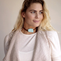 Natural Stone Choker in Turquoise