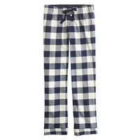 J.Crew Womens Pajama Pant In Buffalo Check Flannel
