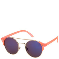 Square Corner Round Sunglasses - Sunglasses - Bags & Accessories - Topshop
