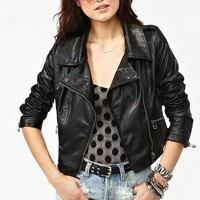 Paint It Black Moto Jacket