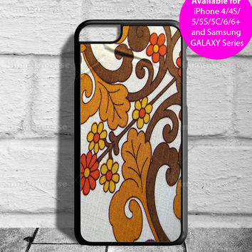 Retro Brown Orange Floral Image