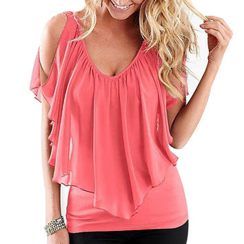 Sexy Off Shoulder Summer Style T-Shirt