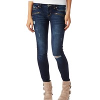 Lola Zip-Pocket Dark Wash Jegging - Aeropostale