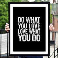"""Home and Living Home Decor Wall Decor """"Do What You Love"""" Inspirational Print Art Typography Poster"""