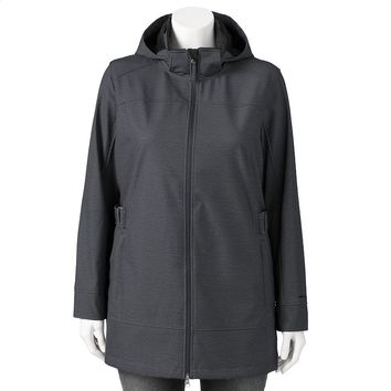 Free Country Hooded Soft Shell Anorak - Women's Plus Size, Size: