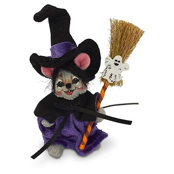 Annalee Dolls 4in 2018 Halloween Witch Mouse Plush New with Tags