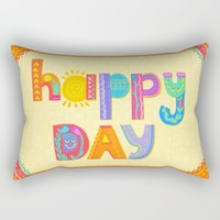 Happy Day Rectangular Pillow by Noonday Design
