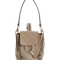 Chloé Mini Faye Leather & Suede Backpack | Nordstrom