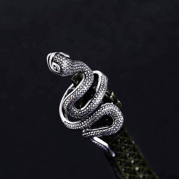 TOMTOSH  Fashion Snake Rings For Women Color Black Heavy Metals Punk Rock Ring Vintage Animal Jewelry