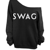 Swag Black Slouchy Oversized Sweater