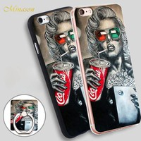 Minason marilyn monroe cinema 3d Mobile Phone Shell Soft TPU Silicone Case Cover for iPhone X 8 5 SE 5S 6 6S 7 Plus