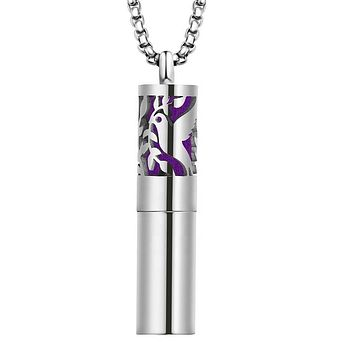 Dove of Peace Cylindrical Essential Oil Diffuser Necklace