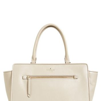 kate spade new york 'north court - anton' pebbled leather satchel