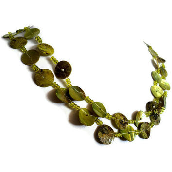 Extra Long Green Apple Necklace by Lunarpearl on Etsy