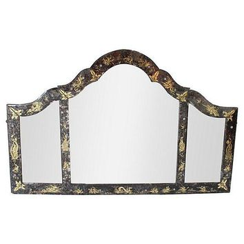 Pre-owned Chinoiserie Eglomise Mirror