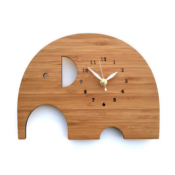 Elephant Clock - Modern Animal Wall Clock