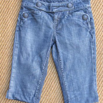 Citizens of Humanity Marine Bermuda Cropped Jean Shorts 26