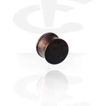Ribbed Wood Plug (Black Rosewood)[Organic Materials] - Crazy Factory Piercing