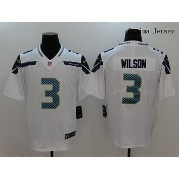Danny Online Nike NFL Jersey Men's Vapor Untouchable Color Rush Seattle Seahawks #3 Russell Wilson Football Jersey White