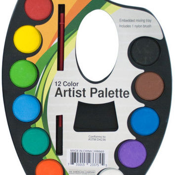 Watercolor Paint Artist Palette with Mixing Tray Case Pack 24