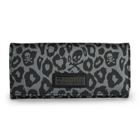 Loungefly Black/Grey Skull Leopard Trifold Wallet - View All - Whats New
