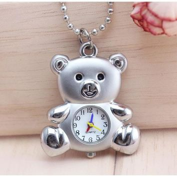 TOP NEW pocket watch cartoon shape Women man kids Casual dress chain necklace keychains kids  boy men