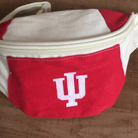 Vintage IU Indiana University Fanny Pack Adjustable Adult