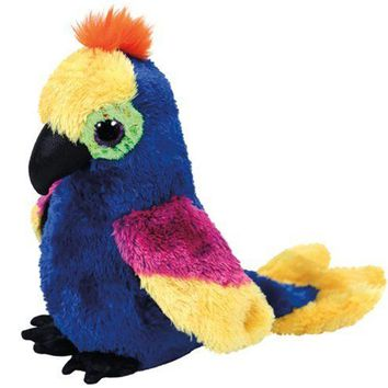 "Pyoopeo Ty Beanie Boos 6"" 15cm Wynnie the Hyacinth Macaw / Parrot Plush Regular Stuffed Animal Collectible Bird Doll Toy"