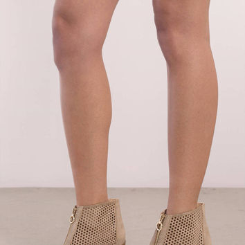 Naomi Open Toe Ankle Booties