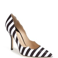 Paul Andrew 'Zenadia' Stripe Silk Pointy Toe Pump