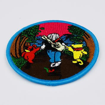 Grateful Dead - Jerry Walking With Bears Patch