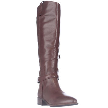 Dolce Vita Mayden Western Pointed-Toe Riding Boots, Chocolate Leather, 6 US