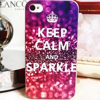 Gradient Red Wine Color Sparkle Case for iPhone4/4s [780]