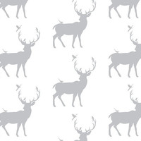 Grey Woodland Crib Sheet, Baby or Toddler Fitted Crib Sheet, Boy or Gender Neutral Nursery, Woodland Crib Sheet, Deer Nursery