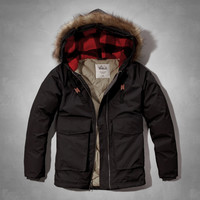Woolrich with A&F Patrol Down Short Parka