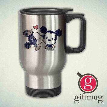 Minnie and mickey mouse vintage 14oz Stainless Steel Travel Mug
