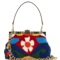 Vanda multicolored mink shoulder bag | Dolce & Gabbana | MATCHESFASHION.COM US