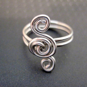 Custom Triple Spiral Ring - Handcrafted - Color Choices