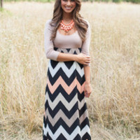 Color Me Fabulous Chevron Maxi FLASH SALE!