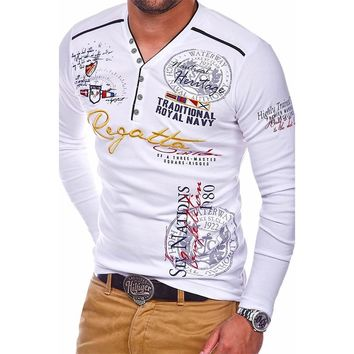 ZOGAA Polo Shirts For Men 2018 Brand New Men's Long Sleeve Polo Shirt 3XL 4XL Autumn Casual Male Shirt Letter Printed