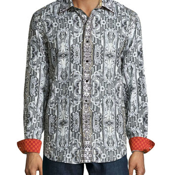 Limited Edition Printed Linen Sport Shirt,